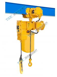 China High Capability Yellow  Explosion Proof Electric Chain Hoist , Electric Winch 1 Ton 220v on sale