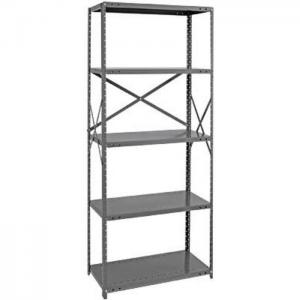 China 4 Posts Morden Metal Storage Shelves Narrow Shelving Unit For Warehouse on sale