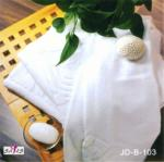 厚く純粋な白は100%の綿のホテルのBathタオル70 * 140cmを個人化しました