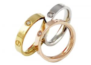 China Simple Silver Tone Lover Stainless Steel Rings / Matching Wedding Rings His And Hers on sale