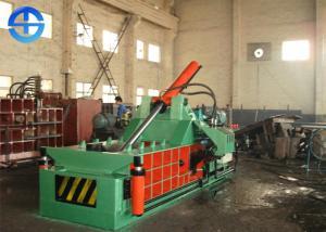 China PLC Scrap Metal Baler Aluminium Scrap Baling Press Machine 18.5 Kw Bale Size 300×300 Mm on sale