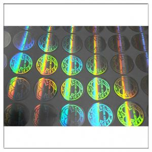 China Security Adhesive Laser Holographic Hologram Sticker,3D die cut security hologram and anti-fake holographic labels on sale