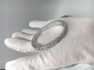 China Simple Diamond Bangle Bracelet , 18k White Gold Cartier Love  Bracelet on sale