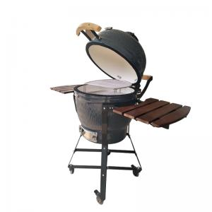 China Folding Camping Egg Charcoal Grill , Large Capacity Oval Kamado Grill on sale
