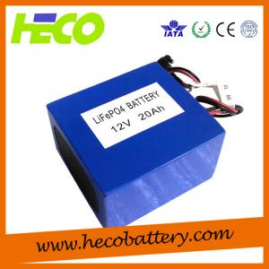 Quality Customized 12V 20AH Lithium Battery Pack for sale