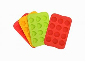 China Heart Star Shaped Silicone Baking Molds Heat Resistant Silicone Chocolate Molds on sale