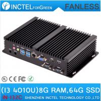 Embeded Industrial Fanless MiNi PC Terminal with Intel i3 4010u processor 2 COM 4 USB3.0 Mini Computer
