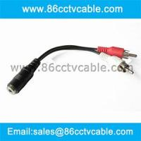 China 3.5mm stereo to 2 RCA cable, Audio cable on sale