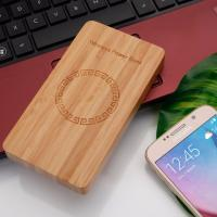 5 - 8mm Transmission Distance Wooden Qi Wireless Charger Ultra - Thin iOS Phone Usage