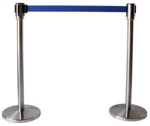 China Stainless Steel Scalable Supermarket Swing Gate Safety Barrier With Belt on sale