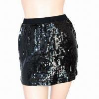 Black Sequin/Mini Skirts for Women, Tight Skirt