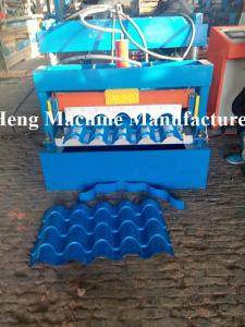 China PPGI Roof Panel Glazed Tile Roll Forming Machine 2 - 3m / min Rolling Forming Machine on sale