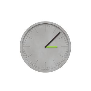 China Round Gray Concrete Office Wall Clock Handmade Craft Silk Screen Logo on sale