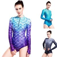 China Long Sleeve Mermaid Tail Swimsuit UV Protection 3D Fish Scales Printing on sale