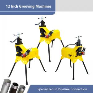 China 12 Inch Electric Pipe Grooving Machine / Automatic Pipe Threading Machine on sale