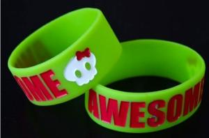 China OEM Debossed Silicone Wristband, Colorful Silicone Sports Bracelets For Events on sale