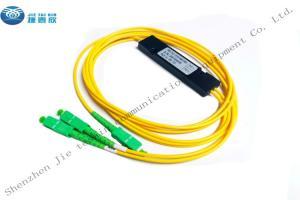 China SC APC Simplex 1X2 FBT Optical Fiber Coupler 2.0mm 1m 30/70 ABS PVC on sale