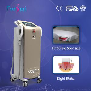China 300000 shots guarantee professional ipl beauty machine with 2 big spot size handles on sale