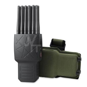 China World First 12 Antennas All-in-One Full Bands Cell Phone Signal Jammer Blocking 315/433/868(Remote Control)GPS WIFI on sale