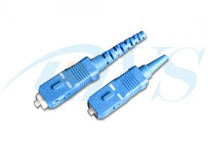 China Blue Plastic Optical Fiber Fast Connectors SC-SM With SC / PC Connector Type on sale