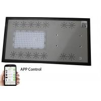 IP65 All In One Solar Street Light With Blue Strip , Smart Mobile Phone App Control