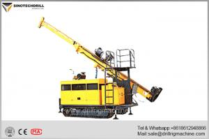 China Compact Crawler Drill Rig , Hydraulic Core Drilling Machine With BQ Drill Depth 1000m on sale