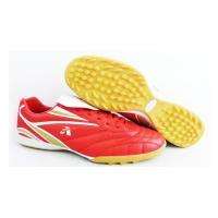 Lightweight Mens Indoor Soccer Cleats With Red , White And Gold Color