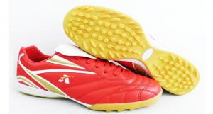 China Lightweight Mens Indoor Soccer Cleats With Red , White And Gold Color on sale
