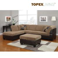 Light Brown Corduroy Sectional Sofa 2pc Set Sofa Couch Chaise Sofa Set with table,L shaped Fabric Corner Sofa Set