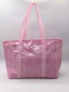China Pink Coating Polyester Tote Diaper Bags Stylish Diaper Bags For Mom 33*27*14.5CM on sale