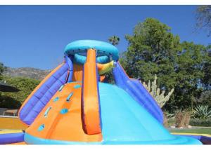 China Home Outdoor Small Inflatable Water Slide Equipment Battle Ridge For Kids on sale
