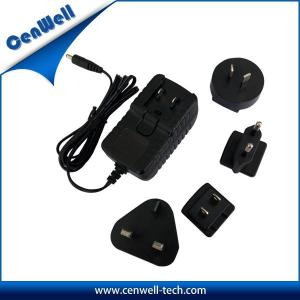Quality 12v 1a interchangeable uk us eu au plug universal ac/dc adapter for sale