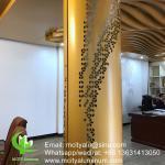 aluminium column cladding metal facade cladding bending sheet 2.5mm thickness for post facade decoration