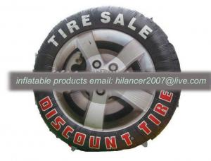 China advertising inflatable tire shape balloon model for sale on sale