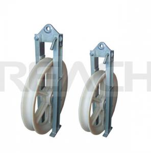 China Stringing Pulley Block for Power Transmission Line, Made of High Strength MC Nylon or Aluminum on sale