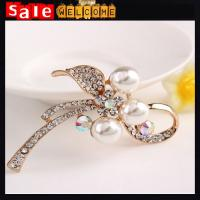 Pearl Leaf Rhinestone Brooches Jewelry for Womne Ladies,Jewelry Rhinestone Brooch Women