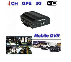 China 4CH 3G Digital Video Recorder , Mobile DVR With GPS Tracker For Bus / Truck on sale