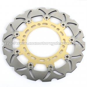 China Gladius 650 Motorcycle Floating Brake Disc CNC Milled Aluminum Alloy 6 Holes on sale