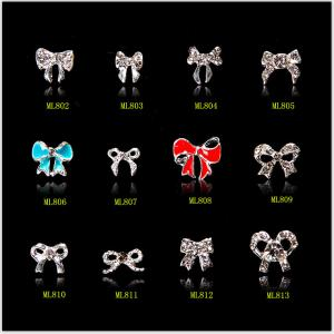 China Hot NEW Wholesale Alloy Jewelry 3D Nail Art Jewelry Nail rhinestones Sticker Supplier Number ML802-813 on sale