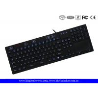 On / Off Switch Silicone Laptop Keyboard 106 Keys Adjustable Brightness