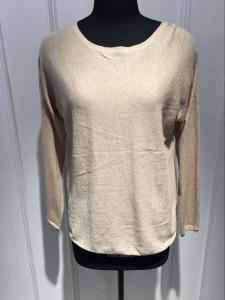 China Long Sleeves Round Neck Ladies Cashmere Sweaters With 14gg Computer Knitted Round Back Bottom on sale