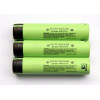 Cylindrical 3.6 V Rechargeable Battery / Lithium 18650 Battery , 18*65mm