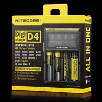 100% Original Nitecore D4 Battery Charger 12v LCD Intelligent Charger Li-ion 18650 14500 16340 26650 AAA AA Battery Char