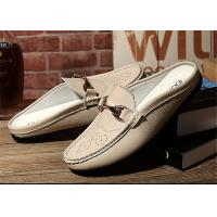 Creative Design Mens Backless Loafers , Backless Slip On Shoes MOC Toe