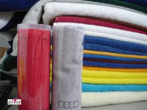 China OEM White Red Blue Green Thin Cotton Family Hotel Face Towels on sale