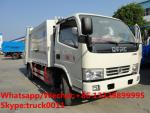 China dongfeng 4*2 4tons compression garbage truck for sale, Factory customized Dongfeng 4*2 RHD compacted garbage truck