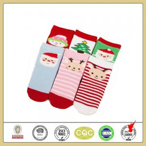 China Classic fashionable custom christmas terry cosy baby socks on sale