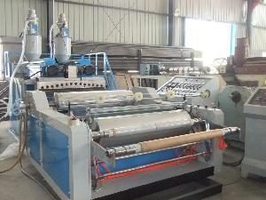 China 1000mm Two Layers PE Stretch Film Making Machine (AX-55*2) on sale