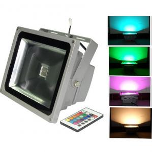 China High CRI rgb outdoor colored led flood lights 30w , 2700 - 3000 lumen , Pure White on sale
