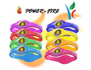 China Germanium Titanium Sports Silicone Energy Bracelets Embossed Non - Toxic Material on sale